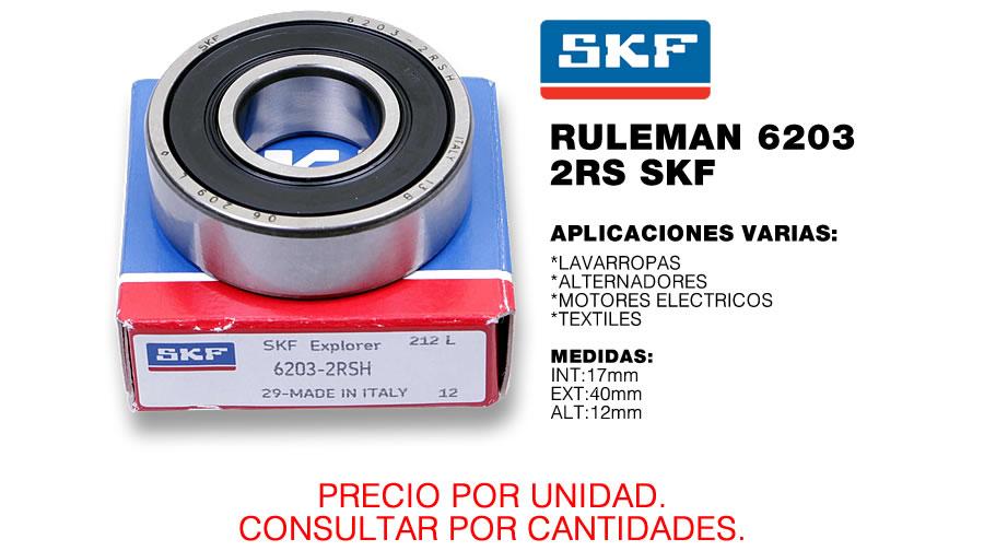 ruleman skf 6203 ms rodamientos